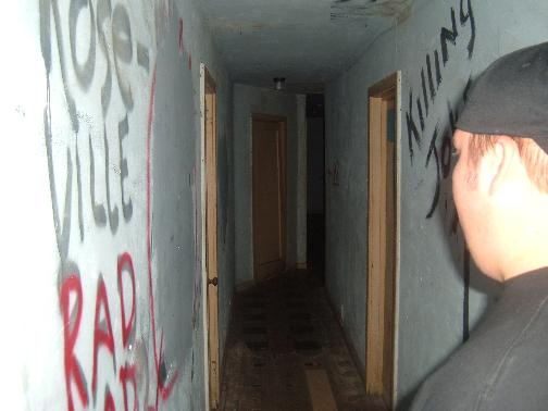 One of the scary hallways